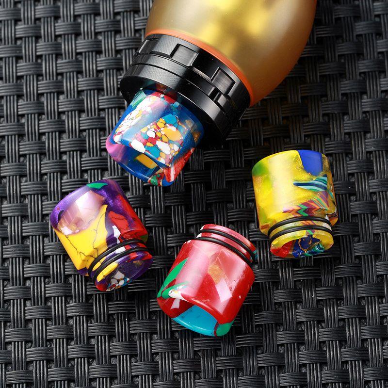 810 turchese con resina epossidica Drip Suggerimenti TFV8 TFV12 Kennedy Goon 528 RDA atomizzatori 810 Bocchini Miglior Design DHL