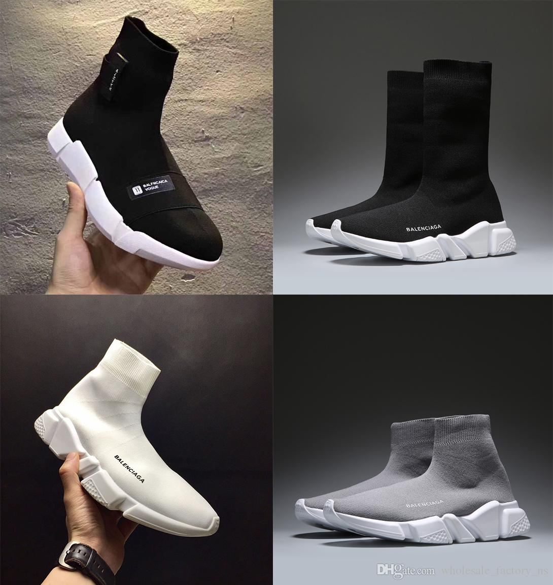 balenciaga sock shoes grey
