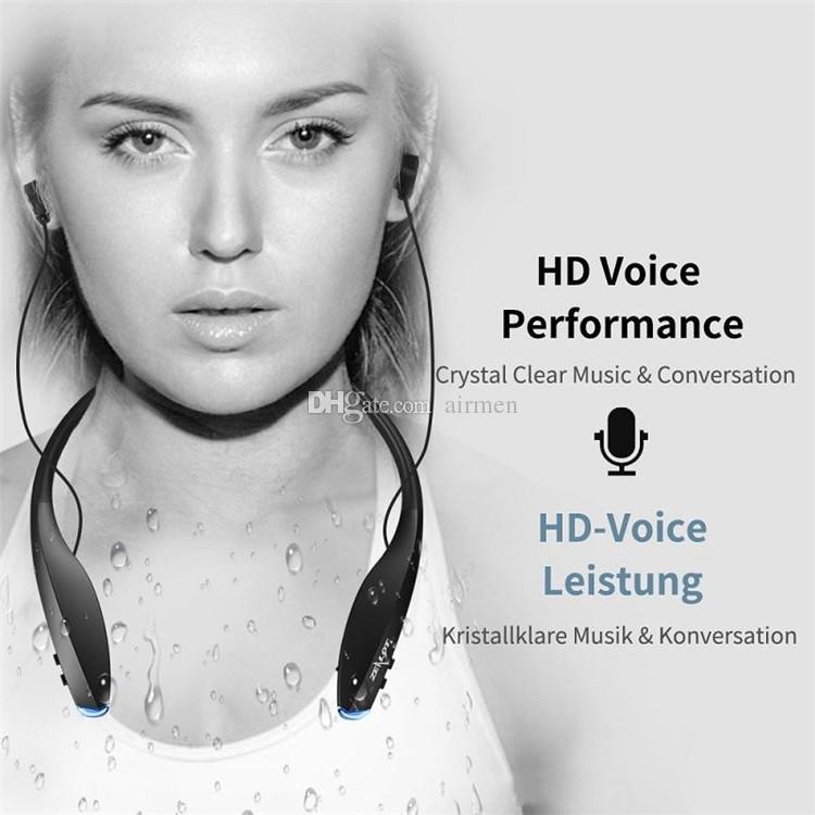 Recém Fone de Ouvido Bluetooth Fones De Ouvido Sem Fio CRS4.0 com Ímã Atração Fino Neckband Fone de Ouvido Sem Fio Esporte Fones de Ouvido com Microfone