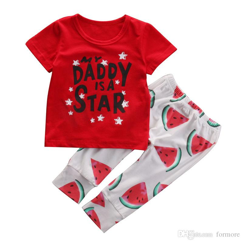 0ecab481b 2019 Newborn Baby Unisex Clothes Toddlers Boutique Boys Girls Clothing Set  Cool Fruit Infant Tracksuit Short Sleeve Shirt Long Pants Legging From  Formore, ...