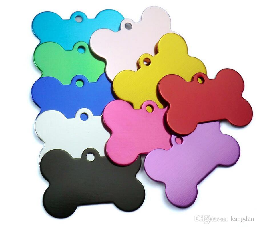 Safey anti-lost pet dog tag Aluminum Alloy blank Pet Dog ID Tags Anodized surface laser engravable Identity Tags puppy cat ID card