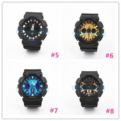 Нового качество прибытия топа Relogio G120 без коробки мужских спортивных часов, популярные мужских часов LED всех указателей работы 3ATM водостойкого Wholsale