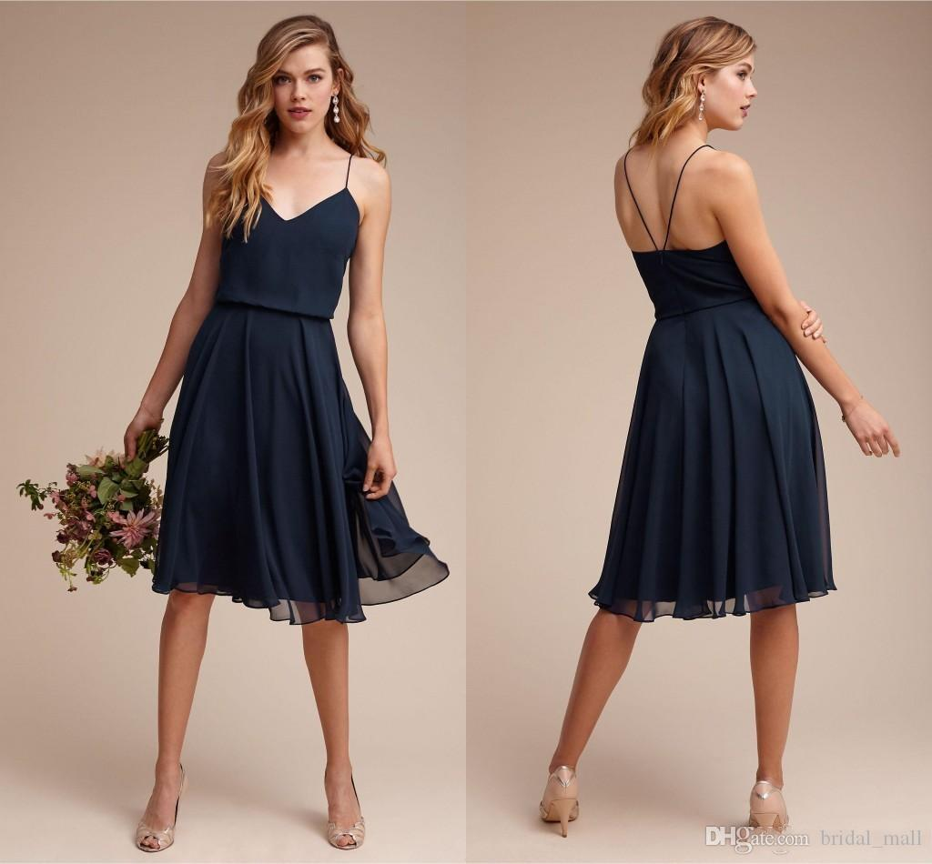 2017 cheap dark navy short bridesmaid dresses chiffon mini maid of 2017 cheap dark navy short bridesmaid dresses chiffon mini maid of honor dress custom made prom dress vestido de festa blue bridesmaid dress bridemaid dress ombrellifo Image collections