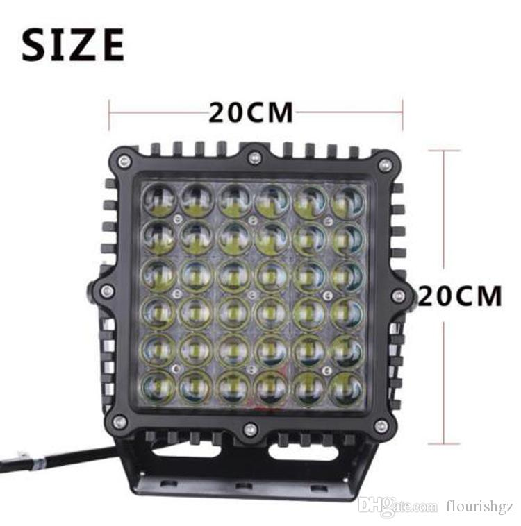 """DHL 9"""" 360W 36000lm Cree Chips LED Driving Work Light Heavy Duty Offroad SUV ATV Spot Pencil Beam 36LED*10W Power Bright W/ Flood Cover Case"""