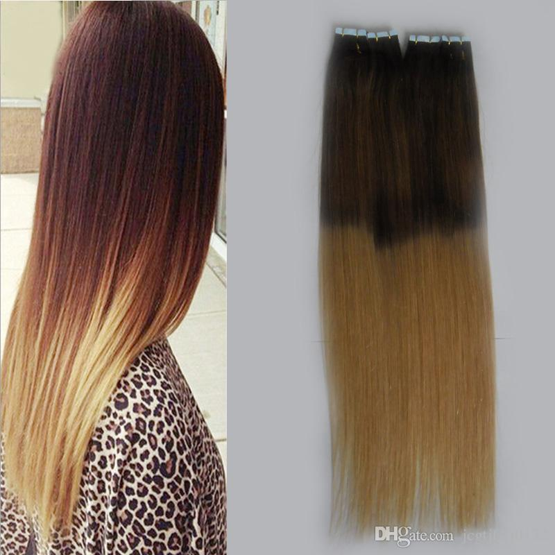 T1b27 honey blonde tape extensions virgin straight tape hair t1b27 honey blonde tape extensions virgin straight tape hair extensions ombre 200g skin weft seamless hair extensions russian remy hair extensions very pmusecretfo Image collections