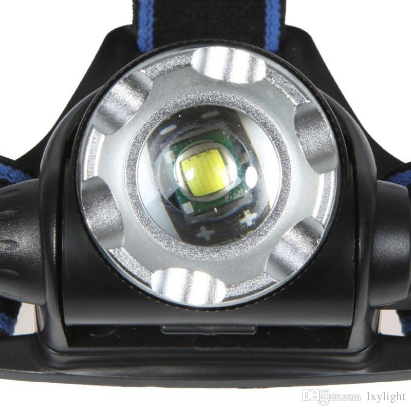 Zoomable Headlamp Headlight 2000Lm XML T6 Rechargeable LED head torch Adjust Focus +Charger+ 2 x Battery