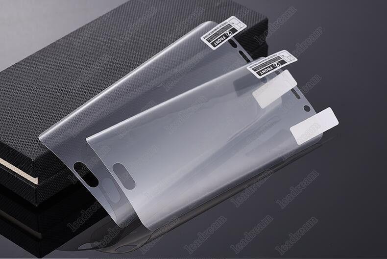 3D Couverture Complète Surface Incurvée PET Protecteur D'écran Garde Douce Film pour Samsung Galaxy S7 S6 Bord G9250 Non Trempé En Verre Aucun Paquet