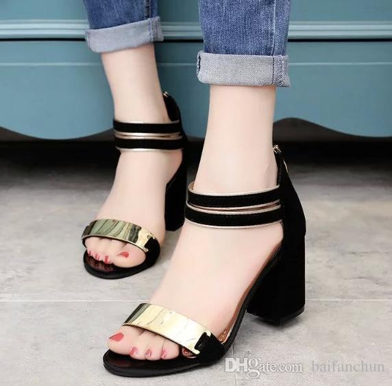 Open Toe Sandals Women Shoes Thick