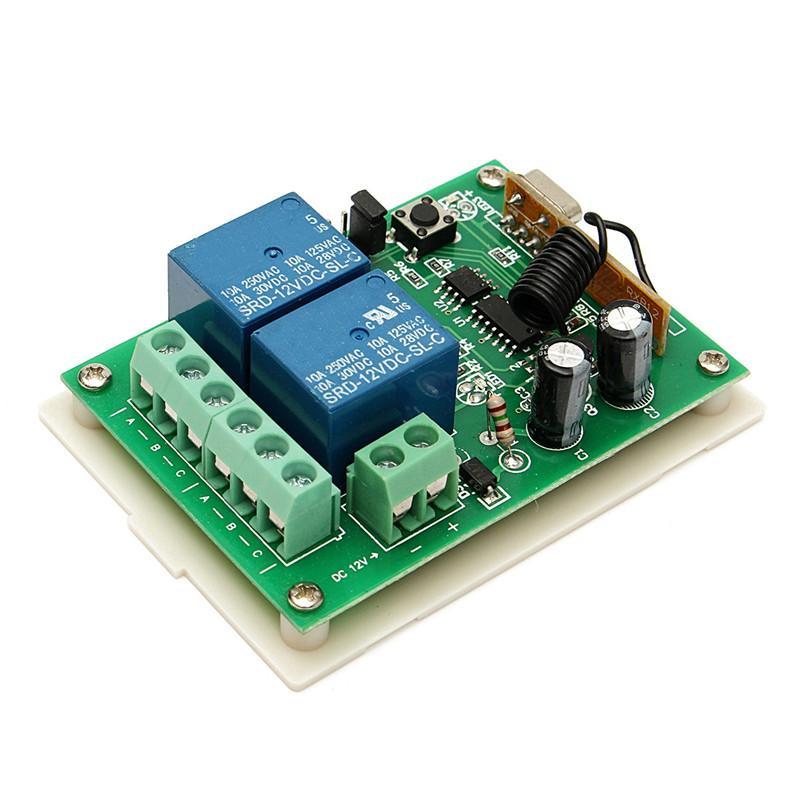 12 فولت 10a 2ch 100 متر اللاسلكية التحكم عن التتابع التبديل 315 ميجا هرتز الاستقبال 2 استقبال متوافق مع 2260/2262/1527 الترويج