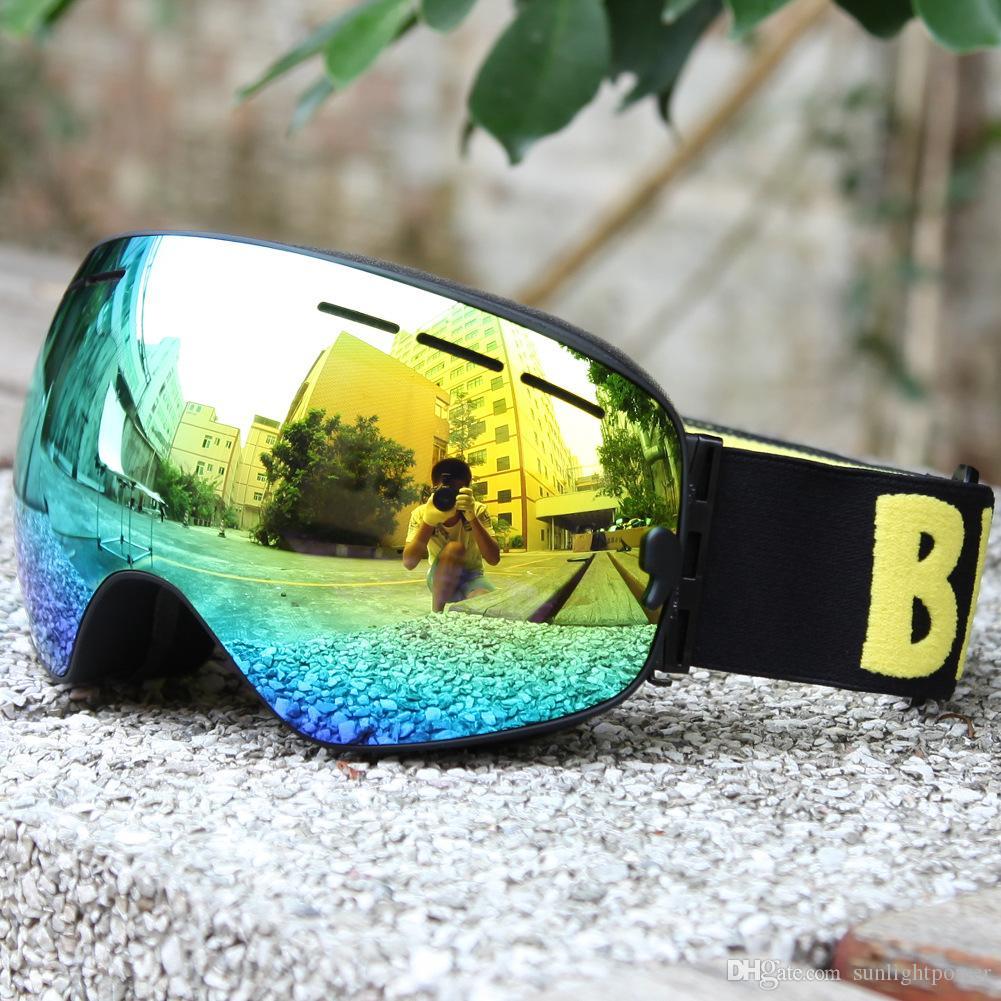 Double Lens UV400 Anti-Fog Big Spherical Skiing Glasses Winter Sport Protective Snowboard Skiing Eyewear Goggles Glasses