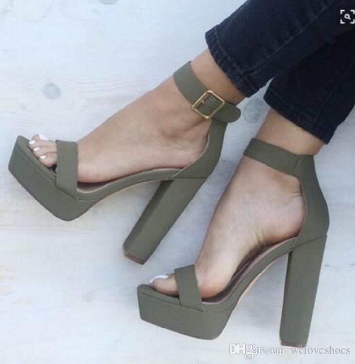 Neue Mode Super High Heels Offene spitze Plattform Frauen Sandalen 2017 Gladiator Ankle Straps Sommer Schuhe Frauen Party Schuhe