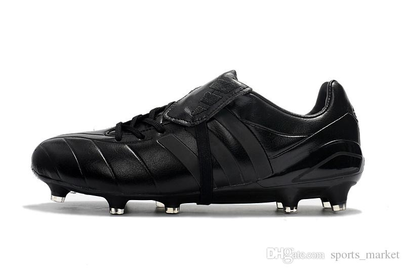 Full Black Predator Mania Champagne FG Messi Mens Soccer Shoe Boots Cheap  100% Original Mens Soccer Cleats Outdoor Messi Football Shoes UK 2019 From  ... 92bf25015