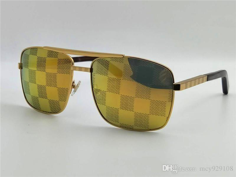 nouvelles lunettes de soleil d'attitude de lunettes de soleil de luxe logo cadre d'or cadre carré en métal style vintage conception extérieur modèle classique de qualité supérieure