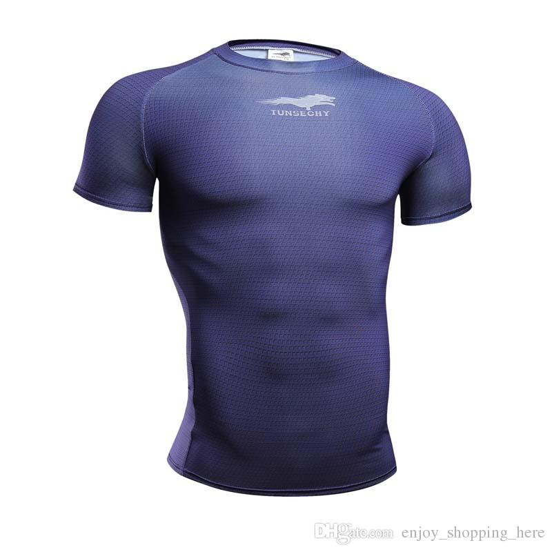 high quality Crossfit lonzo men body engineer Compression Shirt short Sleeves Training t shirt Summer Fitness Clothing Solid Color Bodybuild