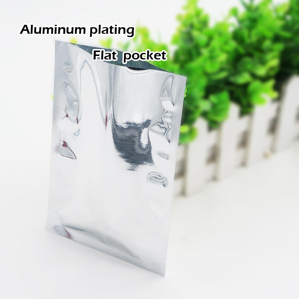 18 * 26 cm Alüminyum kaplama düz cep Isı Mühür Kaplama Alüminyum Folyo Çanta Gıda depolama Kozmetik ambalaj Nokta 100 / paket