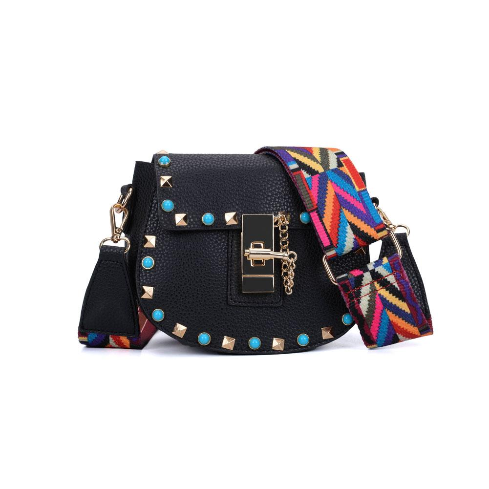 2018 Fashion Lady Mini Pig Crossbody Bags Sky Blue Colorful Wide Shoulder  Strap Adjustable Handle Rivet Candy Small Shoulder Handbag VK5165 Over The  ... cb4c44287185c