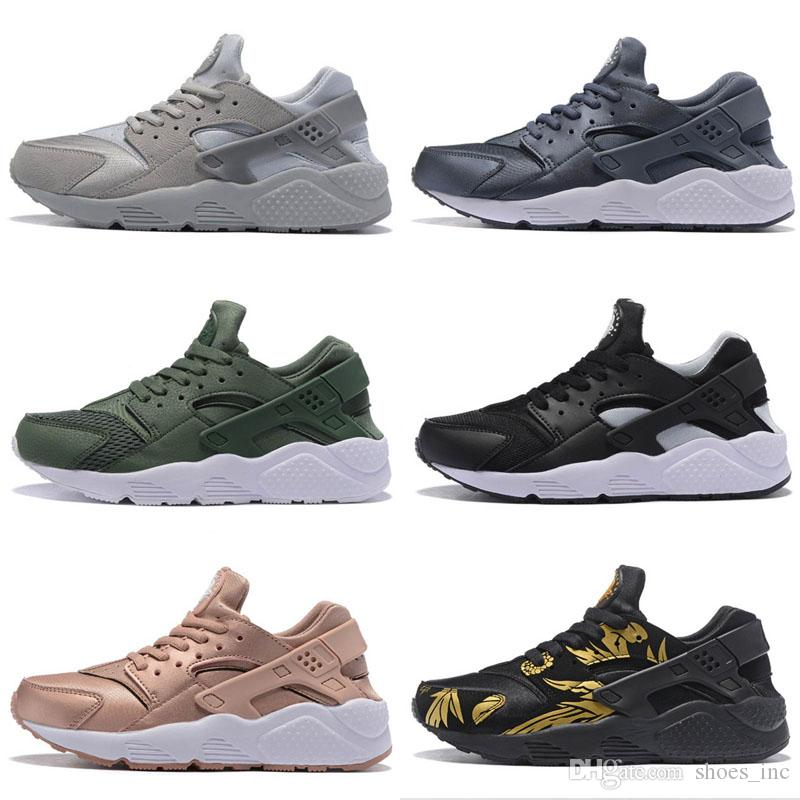 timeless design 7c75c 9fb90 2019 2017 New Air Huarache ID Running Shoes Camouflage Huaraches Men And  Women Sneakers Run Tech Fleece Huraches Sports Shoes Size 36 45 From  Shoes inc, ...