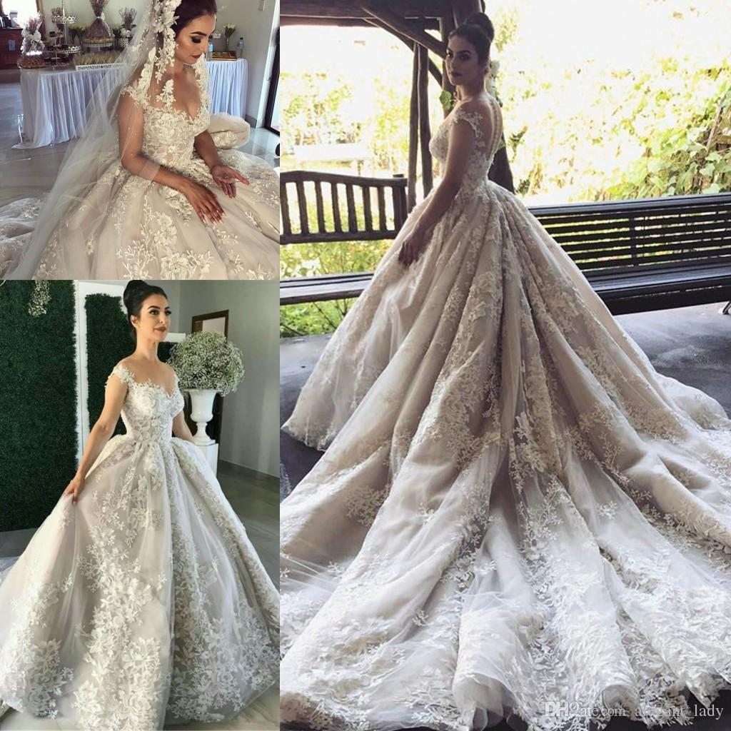 Steven Khalil Lace Applique Cathedral Train Mermaid Wedding Dresses ...