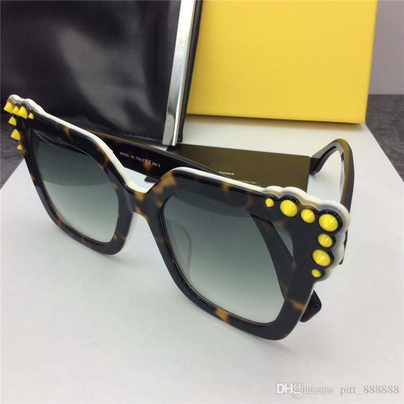 Nowy Wysokiej Jakości 0260 Kolory Pearl Rivet Hot Popular Fashion Okulary Damskie Okulary przeciwsłoneczne z oryginalnym pudełkiem Lentes de Sol Sunglass