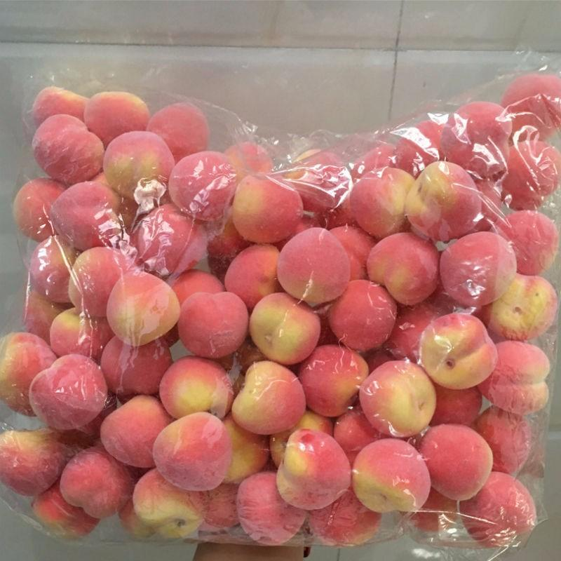 100 Adet Mini Şeftali Köpük Yapay Sahte Meyve Sebze Ev Düğün Bilişsel Oyuncak Yemek Masası Kalıp fotoğraf sahne Için
