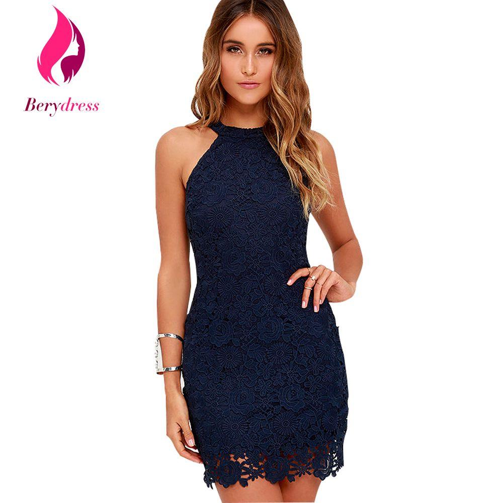 2019 Wholesale Berydress Womens Navy Blue Robe De Soiree Wedding Bodycon Party  Dress Sexy Club Wear Burgundy Lace Dresses 2017 Halter Vestidos From ... f2af1b23e157