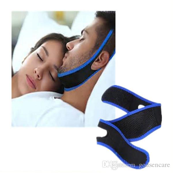 50pcs/lotOEM supply best quality professional Anti Snore Chin Strap Belt  adjustable comfortable Stop Snoring Chin Strap