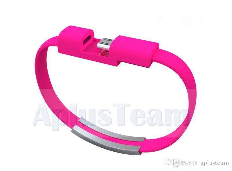 Mini bunter beweglicher Mikro-USB-Daten-Kabel-Schnur-Armband-Armband-Ladegerät Draht Samsung S7 S6 Edge-HTC Blackberry Universal-Android