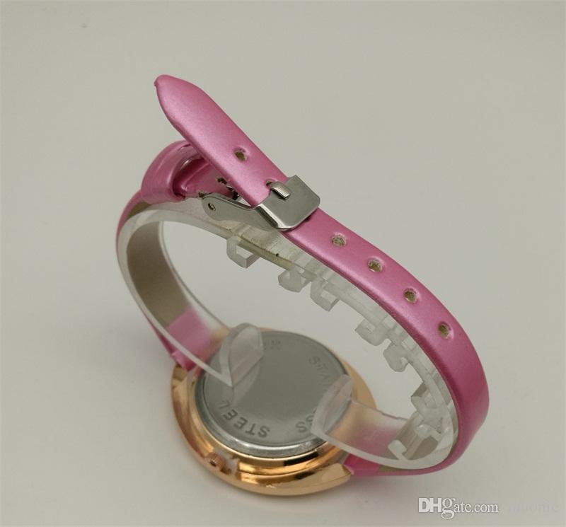 Женщина Кожа Кварцевые Часы Мода Украшенные Бриллиантами Роскошные Дешевые Часы Китай Гуанчжоу Бренд Мюонного Часы Копии