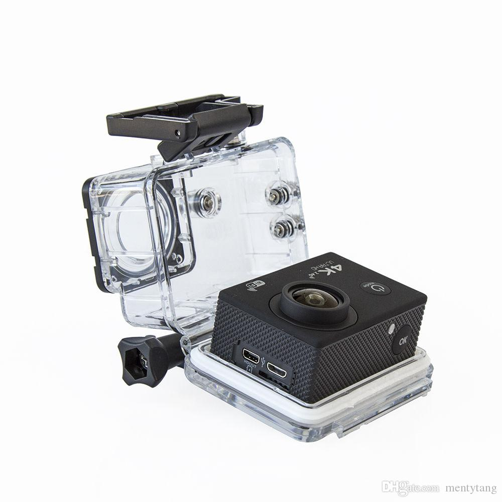 Mini cámara de acción deportiva Pantalla 2.0 pulgadas Ultra HD 4K 12MP WiFi Remoto 30M Cámara a prueba de agua para IOS y Android