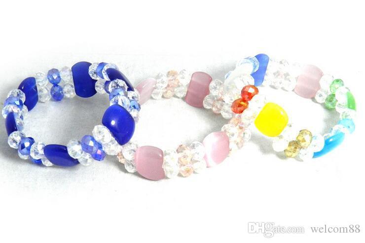 10 stks / partij Mix Kleuren Opaal Faceted Cystal Beads Beaded Strands Armbanden voor Craft Sieraden Gift CR0