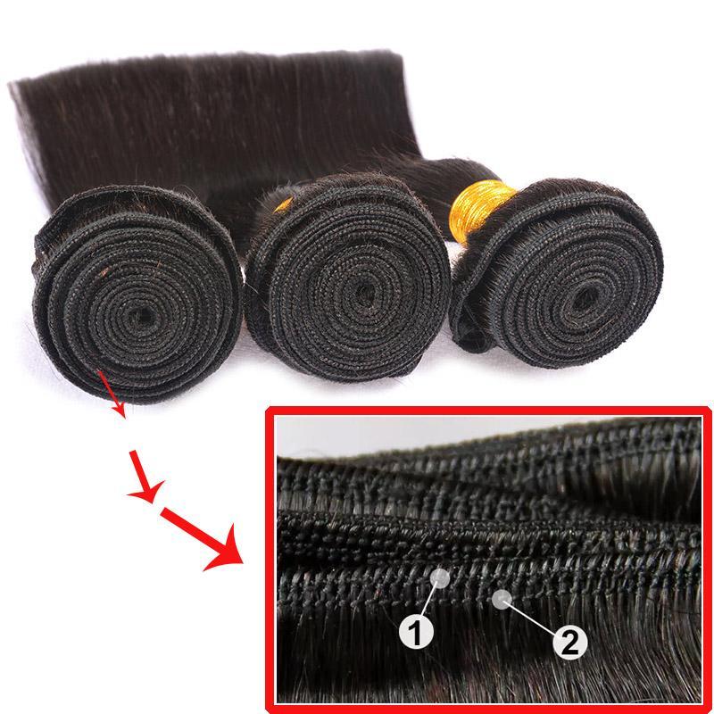 Großhandel Brasilianisches Gerades Haar Mit Verschluss 4x4 Spitzeschliessen Mit Bundles 100% Brazillian Gerade Reine Menschenhaarverlängerungen