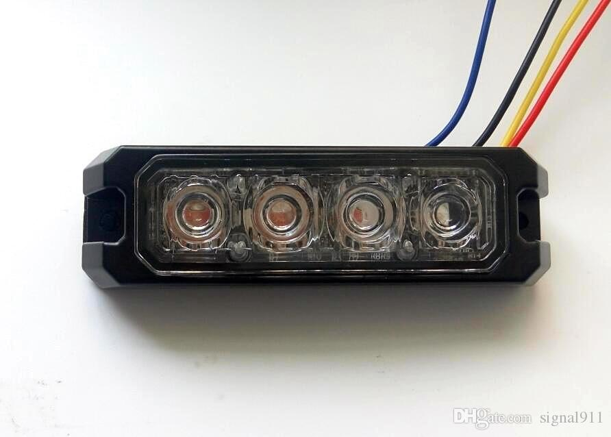 4*3W Car external warning lights,surface mounting Grill emergency lights,Led lightheads,signal light,23flash,waterproof