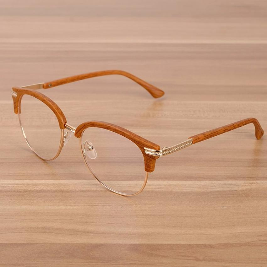 ef15c34a79d Wholesale- NOSSA Big Frame Alloy Eyeglasses Elegant Women s Myopia ...
