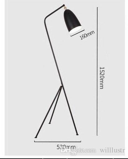 Grashoppa Lâmpada de assoalho Greta Grossman design moderno gafanhoto Iluminação sombra rotativa sentado Sala de Estudo sofá lado ferro luz de leitura