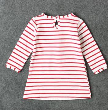INS Girls Xmas Dresses Xmas Princess Dresses Stripe Long Sleeve Baby Skirt Christmas Party Cosplay Costume Santa Claus Elk Printing DH153