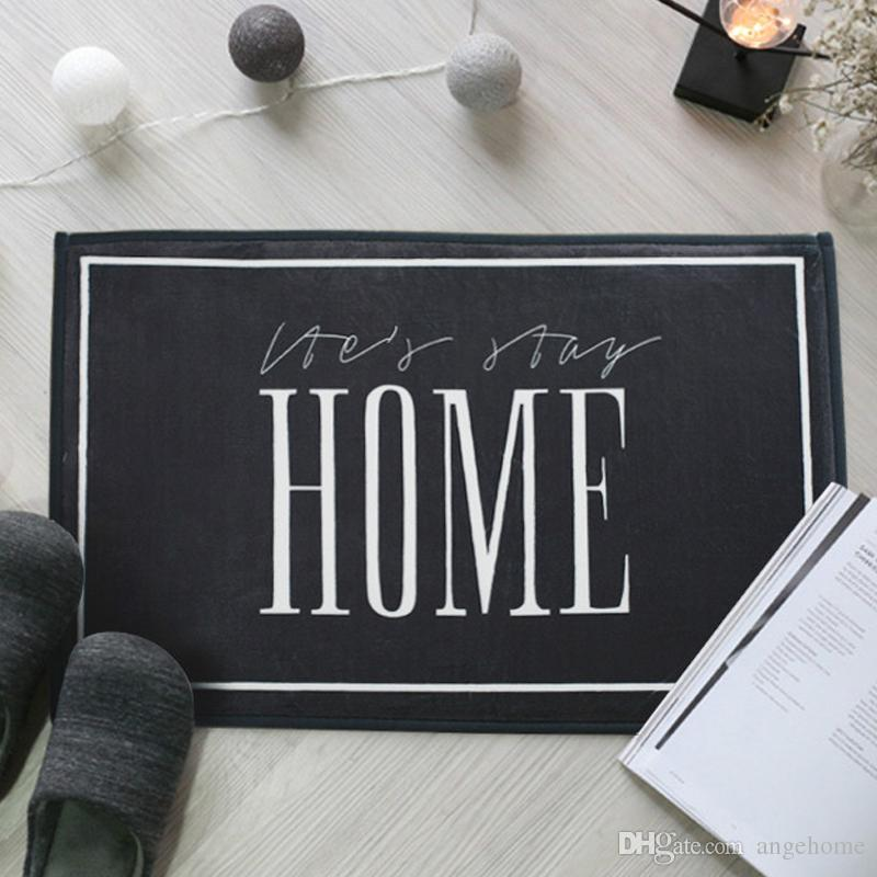 "40x60cm Door Mats - Entrance Door ""HOME"" Words Pattern Carpets Living Room Dust Proof Mats Bathroom Bedroom Non-slip Mat Home Decor"