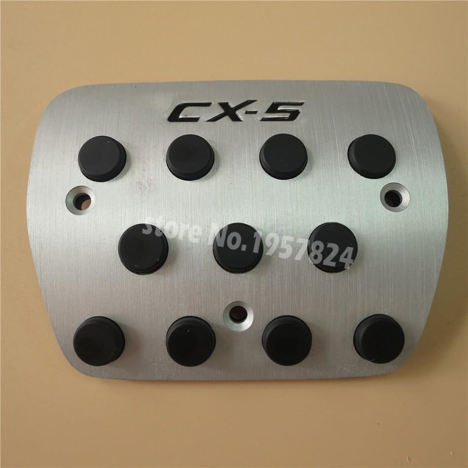 Aluminium Zubehör für Mazda CX5 CX 5 CX5 AT / MT Gas Accelerator Pause Fußablage Pedal-Auflage-Platte, Styling-Aufkleber-Abdeckung