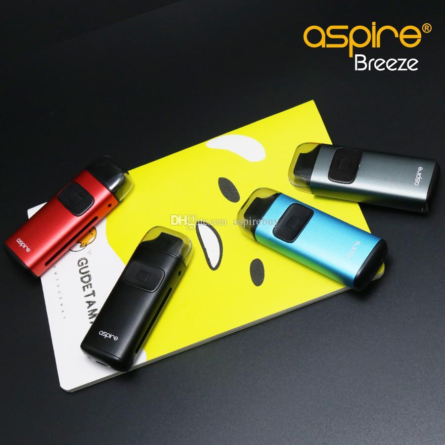 Aspire Breeze Kit All-in-One-Gerät Eingebaute 2ML Tank U-Tech-Spule mit Ladestation Breeze Auto Ein / Aus 100% Authentic