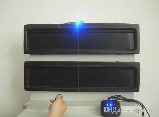 plastic curtain remote control car license plate frame cover / hide car number plate frame europen size