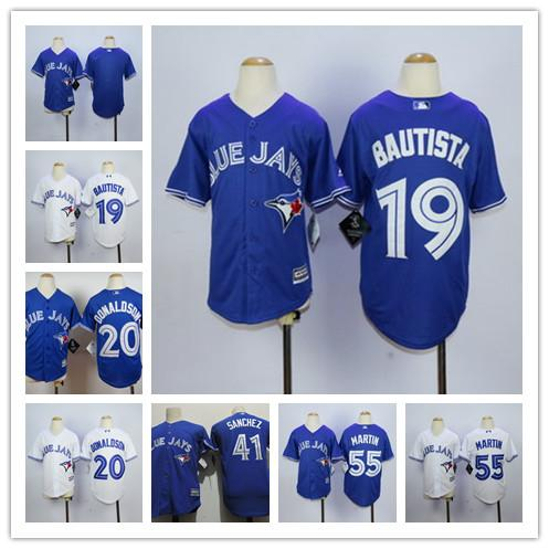 ff694b67e93 Cheap Youth Toronto Blue Jays 19 Jose Bautista Kids 20 Josh Donaldson 41  Aaron Sanchez 55 jose bautista jersey youth. Youth Majestic Flexbase  Authentic ...