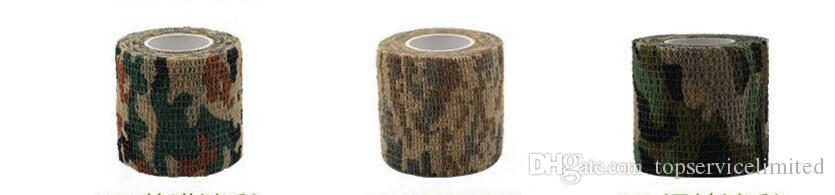 5cmx4.5m армии Открытый Охота Стрельба инструмент Камуфляж Stealth Tape водонепроницаемый Wrap Прочные новые 50шт прибытия