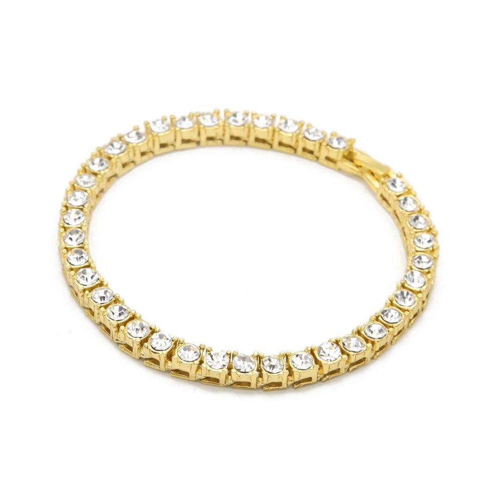 2017 New Brand Accessories Mens Fashion Luxury Gem Bracelets 18K Plated Gold Hand Jewelry European and American style