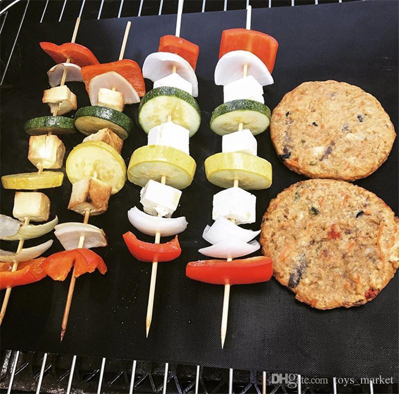 BBQ Grill Matte Non-Stick Wiederverwendbare BBQ Werkzeuge Kochen Backen Mikrowelle Matten Resuable Blatt Pad Wärme Grill Liefert