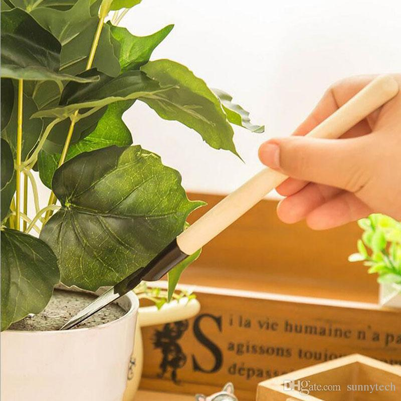 Mini Garden Tools Kit Small Shovel Rake Spade Wood Handle Metal Head Kids Gardener Gardening Plant Tool ZA2596