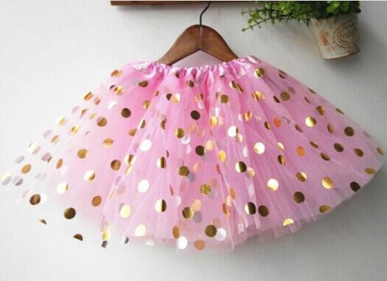 Bebek Kızlar Altın Polka Dot Tutu Etek Bebek Giysileri Tutuş Elbise Çocuklar Etekler Toddler Etekler Kırmızı Bebek Pettiskirt Yenidoğan Fotoğraf sahne