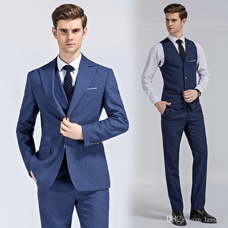 2020 Good Quality Fashion Design Plain Color Man Suit Coat Pant Waistcoat Bridegroom Dress Wedding Dinner Suits L 995 From Lzssing 97 47 Dhgate Com