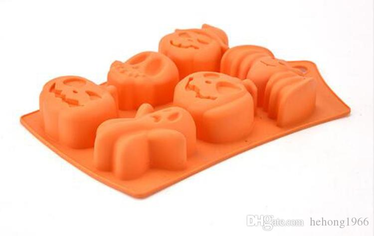 Halloween Baking Moulds DIY Chocolate Cake Pudding Silicone Mold Orange Soft Non Stick Mould Easy To Clean 3 35jc B R