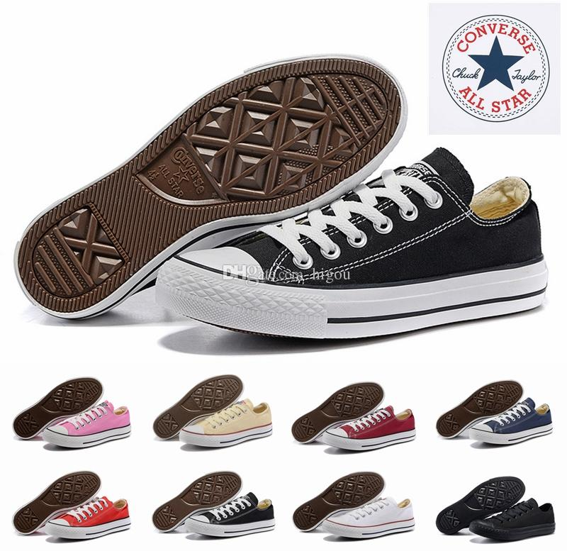 f284199e1aa4 2019 Converse Chuck Tay Lor All Star Core Casual Shoes Low Cut Classic Black  White Red Canvas Shoes Women Mens Converses Skateboard Sneakers Office Shoes  ...