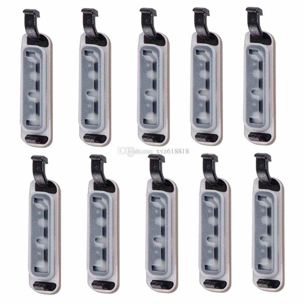 Ücretsiz Kargo Altın Gümüş USB Kapak Flap S5 USB Veri Şarj Portu Toz Fiş Blok Su Geçirmez Kapak için Samsung Galaxy S5 i9600 G900F