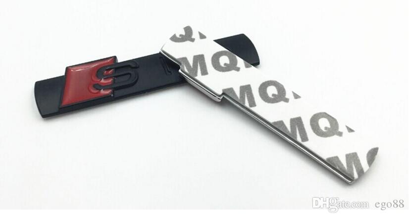 High quality 3D black silver matt silver and matte Metal S line Car fender Emblem Badge Sticker for A4 A6 Q5Q7A3A5A4LA6LA8L